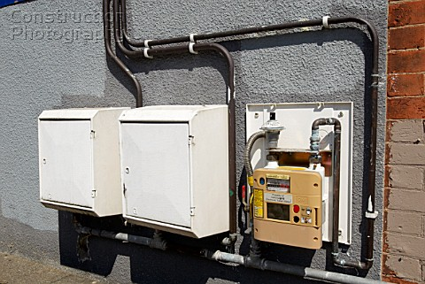 Gas meter reading boxes