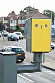 Traffic light camera used to detect motorists passing a red traffic light, Benfleet, Essex, UK