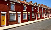 Terrace housing, Dingle, Liverpool UK