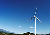 Wind turbine, Languedoc, France