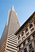 Transamerica Pyramid, San Francisco, California, USA, low angle
