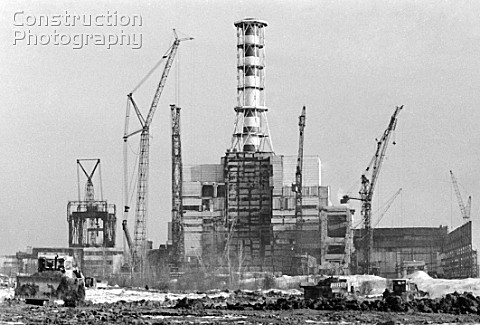 Construction of Smolenskaya NPP Smolensk Russia 1984