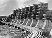 The Dnieper power dam under construction, Dnepropetrovsk, Ukraine, USSR, 1932