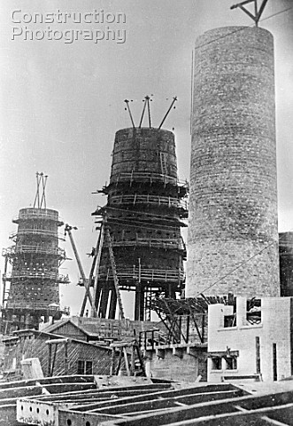 Blast furnaces under construction at the Petrovsky iron and steel works in Dnepropetrovsk Ukraine US