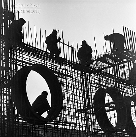 Construction of the Kursk Nuclear Power Plant Kursk Russia 1972