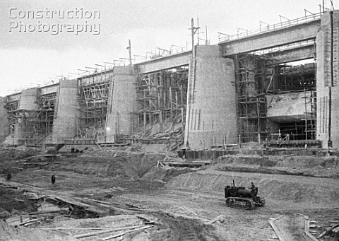 Construction of the Moscow  Volga Canal Russia 1934