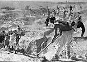 Construction of the Great Fergana Canal, Uzbekistan, USSR, 1939