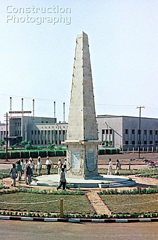 A Friendship Monument erected in Bhilai India in 1963 to commemorate SovietIndian partnership in the