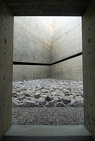 ChiChu Art Museum on Naoshima Island in Japan designed by Tadao Ando