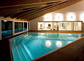 View of a elegant indoor swimming pool
