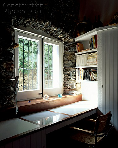 A151 01576 View Of A Study Table Near A Window: study table facing window