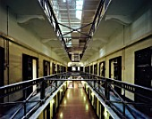 Crumlin Road prison, closed in 1996, now a museum in Belfast, Northern Ireland. Designed by Sir Charles Lanyon, built between 1843 and 1845  one of the most advanced prisons of its day