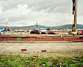 Titanic Quarter, Belfast, Northern Ireland, reclaimed land in Belfast city harbour, known until recently as Queens Island. The site was previously owned by Harland and Wolff shipyards, and named after the companys most famous product RMS Titanic