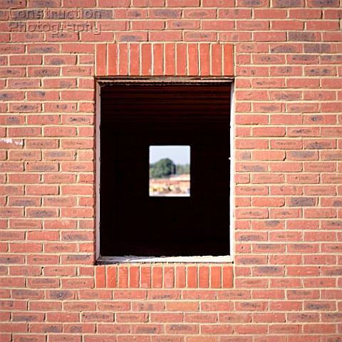 A162 02210 Brick Wall With Window Construction Photography