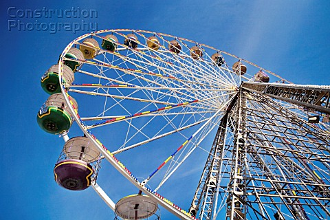 Big Wheel Ride on Blackpool pier Lancashire UK view from below
