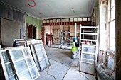 Complete restoration underway in a 17th century London house