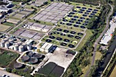 Waste water treatment plant, London, UK
