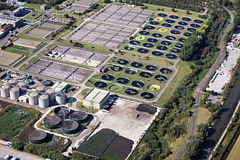 Waste water treatment plant London UK