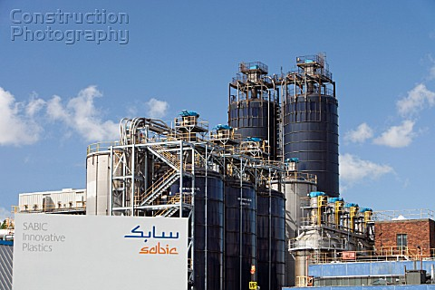 The Sabic plastics factory on the industrial complex at Grangemouth Scotland UK