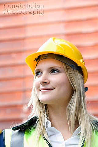 m001 00061 woman with hard hat construction photography