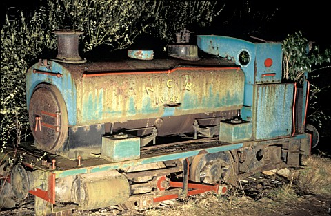 Thomas Muirs scrapyard near Thornton Fife with an Andrew Barclay 040ST No47 built in 1943 as works n