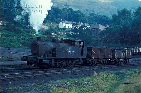Merthyr Vale Colliery Aberfan in Mid Glamorgan South Wales with No1 an 060T built by Andrew Barclay