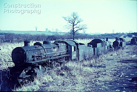 Cohens Cransley scrapyard located on the former Midland Railways ironstone branch from Kettering to